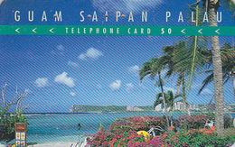 Télécarte Japon / 110-016 - Site GUAM USA SAIPAN PALAU - Plage Palmier - Beach & Palm Tree Japan Phonecard - 63 - Landschappen
