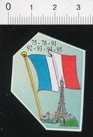 Magnet Le Gaulois Carte Géographique Région Parisienne Paris Tour Eiffel  Drapeau Français Flag France 01-mag2 - Magnets