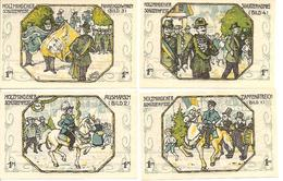 Notgeld Holzmiden 4 X 1 Mark 1922 - [11] Local Banknote Issues