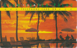 Télécarte Japon / 110-016 - Série 1/4 - Site GUAM SAIPAN PALAU - Beach & Sunset USA Related Japan Phonecard - 65 - Landschappen