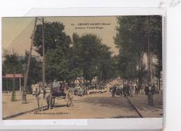 Choisy Le Roi (94) Avenue Victor Hugo (importante Animation (carte Toilée) N° 11) - Choisy Le Roi