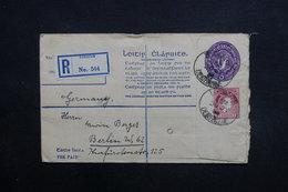 IRLANDE - Entier Postal + Complément En Recommandé De Limerick Pour Berlin En 1926 -  L 31668 - 1922-37 Stato Libero D'Irlanda