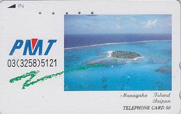 Télécarte Japon / 110-011 - Site Touristique - SAIPAN - MANAHAGA ISLAND - Japan Phonecard Telefonkarte - 66 - Landschappen