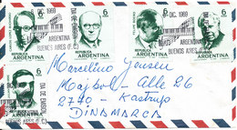 Argentina FDC Air Mail Cover Music 2 Complete Set Of 5 (1 Set On The Front And Also 1 Set On The Backside Of The Cover) - FDC