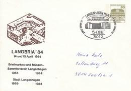 PU 117/124  LANGBRIA'84 -  Briefmarken Un Münzen Sammlerverein 1954-1984, Langenhagen,Han1 - BRD