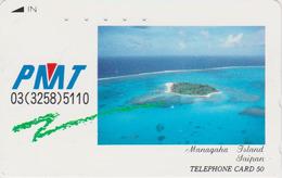 Télécarte Japon / 110-011 - Site Touristique - SAIPAN - MANAHAGA ISLAND - Japan Phonecard Telefonkarte - 67 - Landschappen