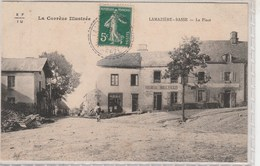 LAMAZIERE-BASSE (19)  La Place - Rossignol Boulanger  - Timbrée 1911 - France