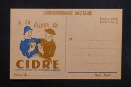 FRANCE - Carte FM Illustrée - A La Gloire Du Cidre -  L 31674 - Marcophilie (Lettres)