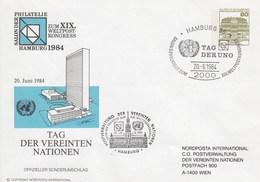 PU 117/134  Salon Der Phlatelie Zum XIX Weltpost-Kongress Hamburg 1984 - Tag Der Vereinten Nationen, Hamburg 36 - BRD