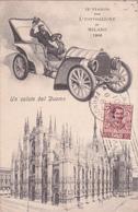 CPA Un Saluto Dal Duomo - In Viaggio Per L'Esposizione De Milano 1906 - Voiture Ancienne - Expositions