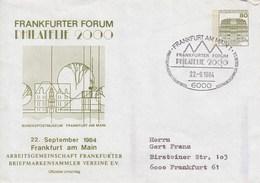 PU 117/144  FRANKFURTER FORUM PHILATELIE  2000 - 22.Sepptember 1984, Frankfurt Am Main 1 - BRD