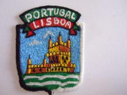 Portugal Lisboa Ecusson En Tissu Schild Blazoen 5,2 X 7 Cm - Ecussons Tissu