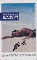 Télécarte Japon / 110-016 - Site Océanie - SAIPAN - Femme - MARIANAS VISITORS BUREAU - Bikini Girl Japan Phonecard - 69 - Landschappen