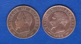 5  Cents  1853 B  +1855 D - France