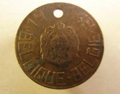 Méd. 40. Médaille De Chien En Cuivre Rouge De 1949 - Professionnels / De Société