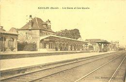 (59) SECLIN : La Gare Et Les Quais - Seclin