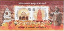INDIA 2019- Jalianwala Bagh Massacre- Miniature Sheet ( Block)- MNH - Blocks & Sheetlets