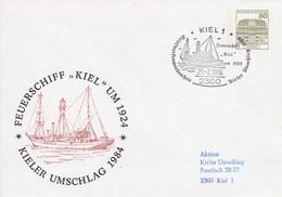 """PU 117/156  Kieler Umschlag 1984 - >Feuerschiff """"Kiel"""" Um 1924, Kiel 1 - BRD"""