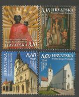 HR 2019-1389-92 CROATIAN MARIAN SHIRNES, HRVATSKA CROATIA, 1 X 4v. MNH - Christentum