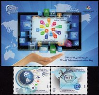 Palestine - 2018 - World Telecommunication Day - Mint Stamp Set + Souvenir Sheet - Palestina