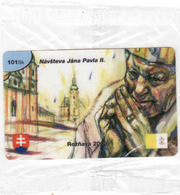 Pope John Paul II, Slovaquie Private Prepaid Card In Blister, Tirage 1250 Pieces Only - Slowakije