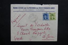 EGYPTE - Enveloppe à Entête De Alexandrie Pour Soldat Des Forces Françaises Libres Au Caire En 1941 -  L 31687 - Égypte