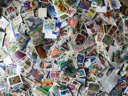 Worldwide Kiloware Stamps Off Paper 150 Grams - Timbres