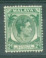 Straits Settlements: 1937/41   KGVI    SG293    2c  Green  [Die II]       MH - Straits Settlements