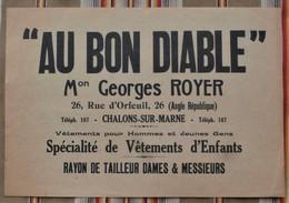 """51 CHALONS SUR MARNE """"AU BON DIABLE"""" Georges Royer Vetements Tailleur HISTORIETTE - France"""