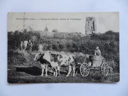 (Jura - 39) - TOULOUSE(-le-Château)  -  L'Eglise Et La Ruine - Scène De Vendanges (attelage De Boeufs ++).....voir Scans - Autres Communes