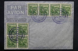 COLOMBIE - Enveloppe De La Société Des Nations , Affranchissement En 1934 -  L 31696 - Colombia