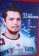 Red Bull Salzburg   Luca Gracnar - Autógrafos