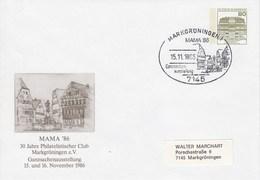 PU 117/242  MAMA`86 30 Jahre Philatelister Club Markgröningen E.V., Ganzsachenausstellung, Markgröningen 1 - BRD