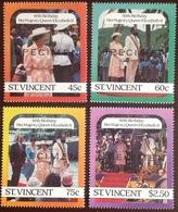 St Vincent 1986 Queen's 60th Birthday Specimen MNH - St.-Vincent En De Grenadines