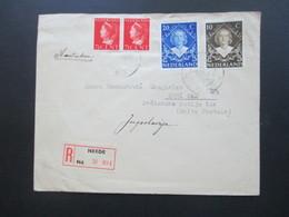 Niederlande 1948 Einschreiben R-Brief Neede Nd. No 994 - Novi Sad (Boite Postale) Jugoslawien - 1891-1948 (Wilhelmine)