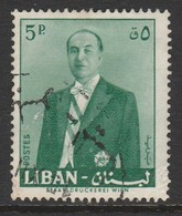 Lebanon 1960 President Fouad Chehab 5 P Green SW 680 O Used - Lebanon
