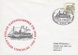 PU 117/250  Kiele Umschlag 1986 - Kieler Hafendampfer Um 1930, Kiel 1 - BRD