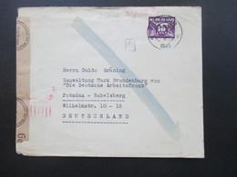 Niederlande 1943 Zensurbeleg Violetter OKW Zensurstempel An Die Gauverwaltung Die Deutsche Arbeitsfront Babelsberg - 1891-1948 (Wilhelmine)