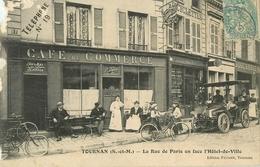 77 Tournan La Rue De Paris En Face De L'hotel De Ville Café Du Commerce   Réf 1829 - Tournan En Brie