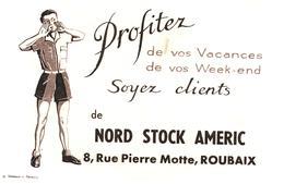 N S A/Buvard Nord Stock Améric  (Format 21 X 13.5) (N= 1) - Carte Assorbenti