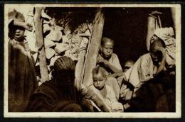 "Ref 1302 - Early Italy Eritrea Ethnic Postcard - Military Cachet Asmara ""Dopolavoro Reduci Febbraio"" - Eritrea"