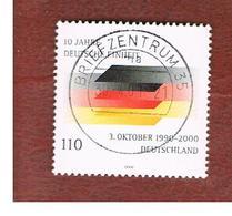 GERMANIA (GERMANY) - SG 3010 - 2000 GERMANY REUNIFICATION ANNIVERSARY   -  USED - [7] République Fédérale