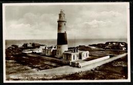 Ref 1302 - Real Photo Postcard - The Lighthouse & Telegraph Station Alderney - Channel Islands - Lighthouses