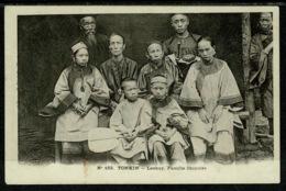 Ref 1302 - Early Ethnic Postcard - China Lackey Family Tonkin - Vietnam - Vietnam