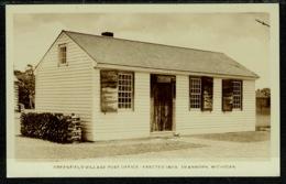 Ref 1302 - Real Photo Postcard - Greenfield Village Post Office - Dearborn Michigan USA - Dearborn