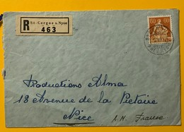 8661 - Recommandé De St-Cergue 12.08.1935 Pour Nice - Suisse