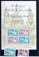 ISOLA DI MAN 1981  - MATRIMONIO CARLO E DIANA - ROYAL WEDDING - MNH ** - Isola Di Man