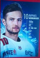 Red Bull Salzburg  Raphael Herburger - Handtekening