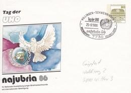 PU 117/258  Najubria 86 - 10 Nationale Ausstellung Junger Briefmarkenfreunde, - Tag Der UNO  Villingen-Schwennigen 1 - BRD