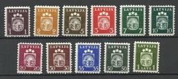 LETTLAND Latvia 1940 Michel 281 - 291 Incl Mi 291 Y ! * - Lettland